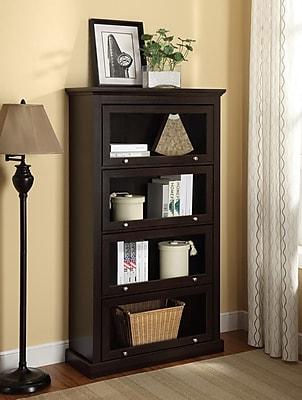 Altra Alton Alley 4 Shelf Barrister Bookcase, Espresso