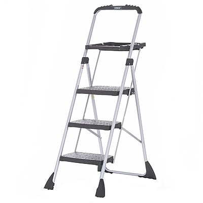 Cosco Products Cosco Three Step Max Steel Work Platform, PLATINUM/BLACK