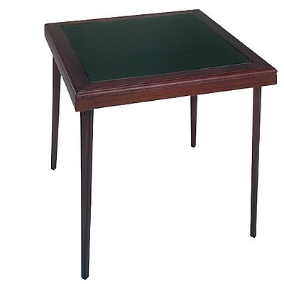 Cosco 32 Folding Table with Vinyl Inset, Brown (14260ESPE)