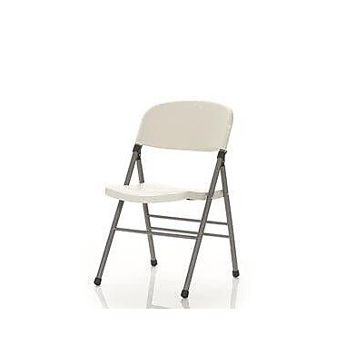 Cosco Products Cosco Resin Folding Chair with Molded Seat and Back White Speckle (4/Pack), WHITE SPECKLE PEWTER