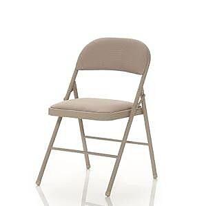 Cosco 14995ALC4 Antique Linen Folding Chair, Antique Linen