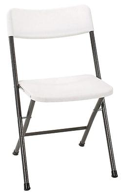 Cosco 37825WSP4E Resin Folding Chair, White, 4/Pack