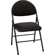 Cosco XL Comfort Folding Chair Black Fabric (4-pack), TIMES