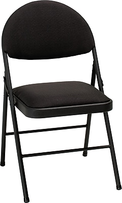 Cosco XL Comfort Folding Chair Black Fabric (4-pack), TIMES