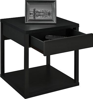 Altra Parsons Medium Density Fiberboard End Table, Black, Each (5185096W)