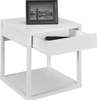 Altra Wood End Table, White, Each (5185196W)