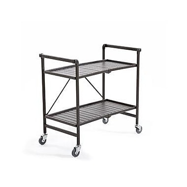 Cosco Products SMARTFOLD Folding Serving Cart, SANDY BROWN TEXTURE