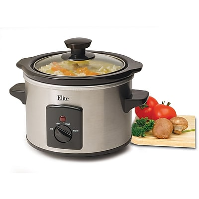 Maxi-Matic® Elite 1.5 Quart Mini Slow Cooker, Stainless