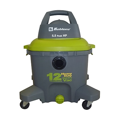 Koblenz® WD-12K Heavy Duty Wet/Dry Vacuum, Gray/Green