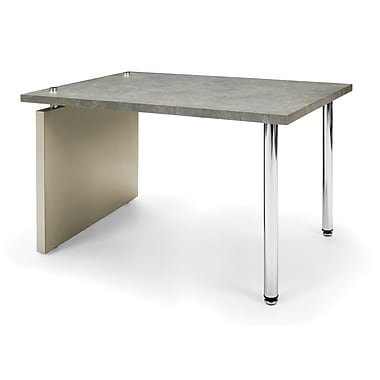 OFM™ Profile Series Laminated Lamp Table With Steel Tube Legs, Painted Screen/Gray Leg Panel