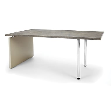 OFM™ Profile Series Laminated Cocktail Table With Steel Tube Legs, Painted Screen/Gray Leg Panel