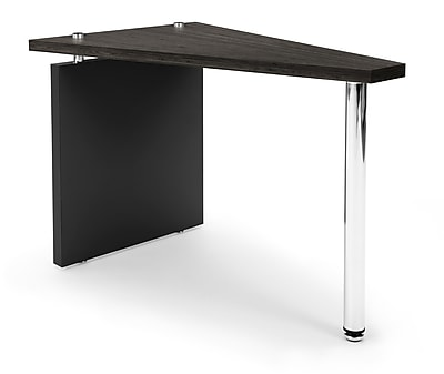OFM™ Profile Series Laminated Wedge Table With Steel Tube Legs, Asian Night/Black Leg Panel