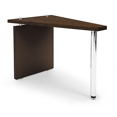 OFM™ Profile Series Laminated Wedge Table With Steel Tube Legs, Windswept Bronze/Brown Leg Panel