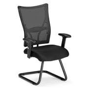 OFM Talisto Steel Executive Guest Chair, Black (595-F)