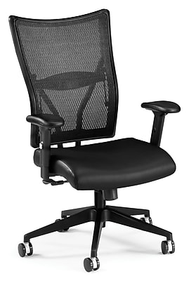 OFM Talisto Fabric Executive Office Chair, Adjustable Arms, Black (811588010493)