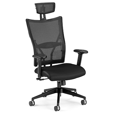 OFM Leather Executive Office Chair, Fixed Arms, Black (811588010318)
