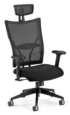 OFM Talisto Fabric Executive Office Chair, Adjustable Arms, Black (811588010301)
