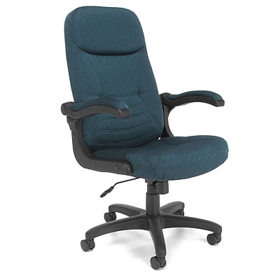 OFM MobileArm Fabric High-Back Executive Conference Chair with Flip-up Arms, Teal, (550-302)