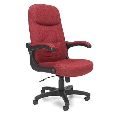 OFM MobileArm Fabric High-Back Executive Conference Chair with Flip-up Arms, Burgundy, (550-303)