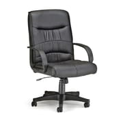 OFM Encore Faux Leather Executive Office Chair, Fixed Arms, Black (811588014484)