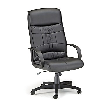 OFM Leather Executive Office Chair, Fixed Arms, Black (811588014477)