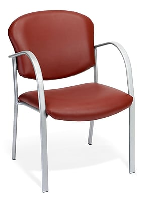 OFM™ Danbelle Series Vinyl Contract Guest/Reception Chair With Waterfall Seat, Wine