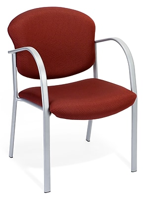 OFM Danbelle Steel Contract Reception Chair, Burgundy (414-63-BURGUNDY)