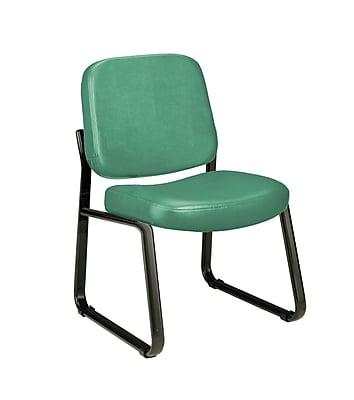 OFM Model 405-VAM Armless Guest and Reception Chair, Anti-Microbial/Anti-Bacterial Vinyl, Teal, (405-VAM-602)
