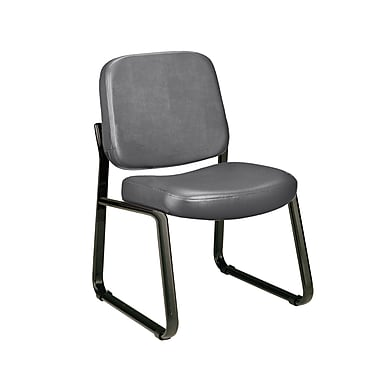 OFM Steel Guest/Reception Chair, Charcoal (405-VAM-604)