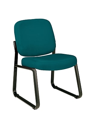 OFM Model 405 Fabric Armless Guest and Reception Chair, Teal, (405-802)