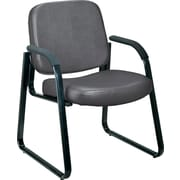 OFM Steel Guest/Reception Chair, Charcoal (403-VAM-604)