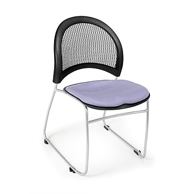 OFM Moon Series Fabric Stack Chair With Mesh Back, Lavender (845123048726)