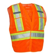 Forcefield 5-Point Tear-Away Traffic Vest, Orange, 2XL/3XL