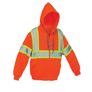 Forcefield Deluxe Safety Hoodie, Orange, Large