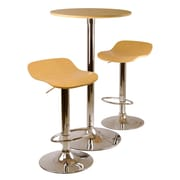 Winsome Kallie 3-piece Pub Table and Stools Set, Natural
