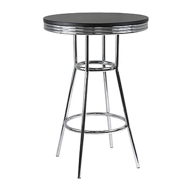 Winsome – Table de style pub de la collection Summit, noir