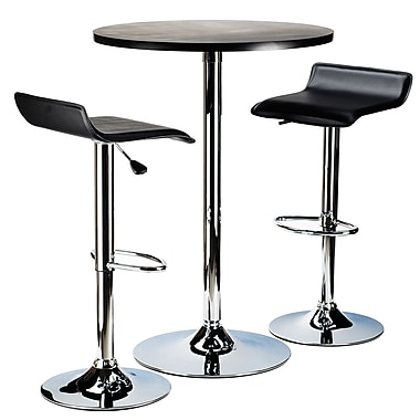Winsome – Table bistro ronde de la collection Spectrum avec chrome, noir