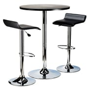 Winsome Spectrum Pub Round Table Collection With Chrome, Black