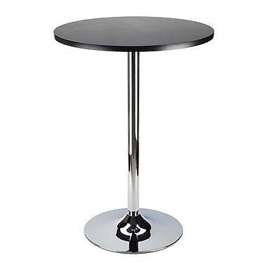 Winsome – Table de pub ronde de 24 po Spectrum avec chrome, noir