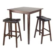 Winsome 3-piece Kingsgate High/Pub Dining Table, Antique Walnut