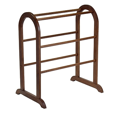 Winsome Quilt Rack, With 6 Rungs, Antique Walnut