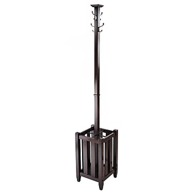 Winsome Memphis Coat Tree and Umbrella Rack, Cappuccino