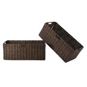 Winsome - Paniers pliables en spathes de maïs Granville, chocolat