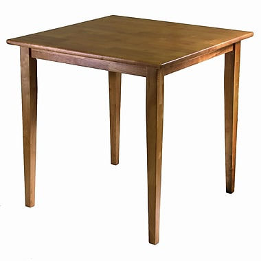 Winsome Groveland Square Dining Table with Shaker Leg, Light Oak