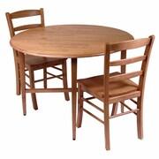 Winsome – Table à manger extensible à abattant collection Hannah et 2 chaises à dossier à barreaux, fini chêne clair