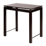 Winsome – Table-îlot de la collection Linea avec touches chromées, fini expresso