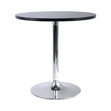 Winsome – Table à manger ronde de 29 po de la collection Spectrum, fini noir