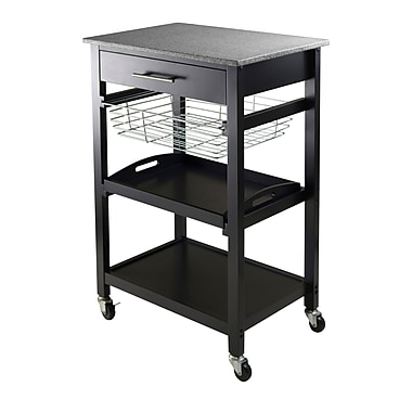 Winsome Julia Utility Cart, Black