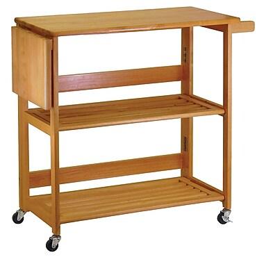 Winsome Foldable Wood Kitchen Cart, Light Oak (34137)