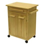 Winsome Kitchen Cart with One Drawer, cabinet, Natural